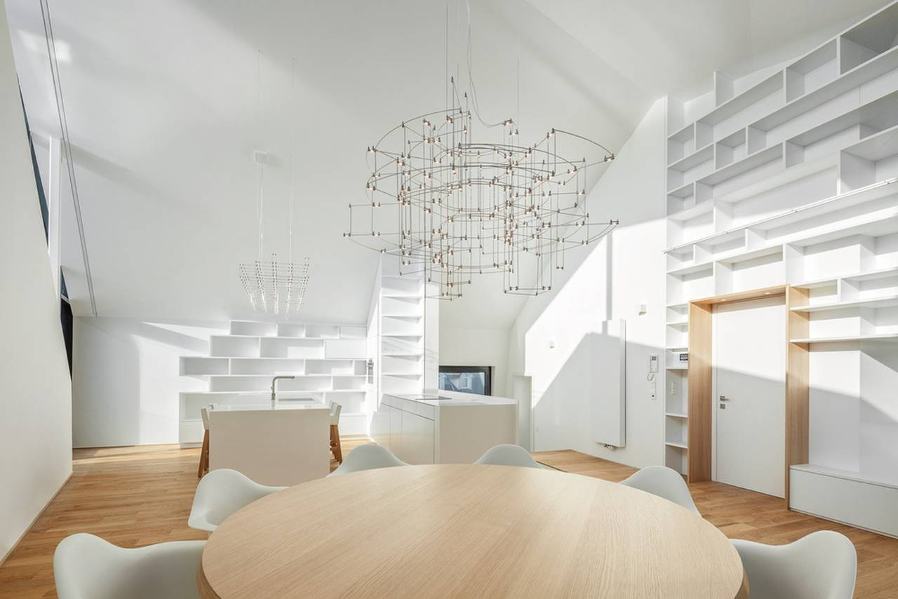 Interior residential building with 15 units Dommeldange, Luxembourg : Photo credit © Steve Troes Fotodesign