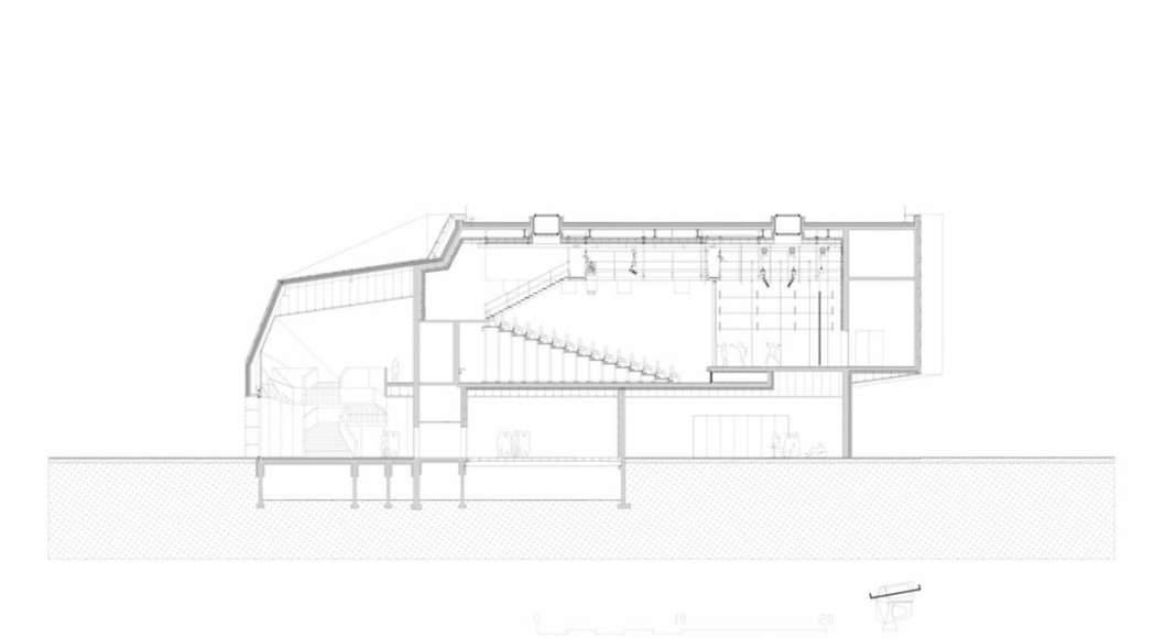 Modern Music Centre en Évreux, France by Hérault Arnod architectes : Drawing credit © Hérault Arnod architectes