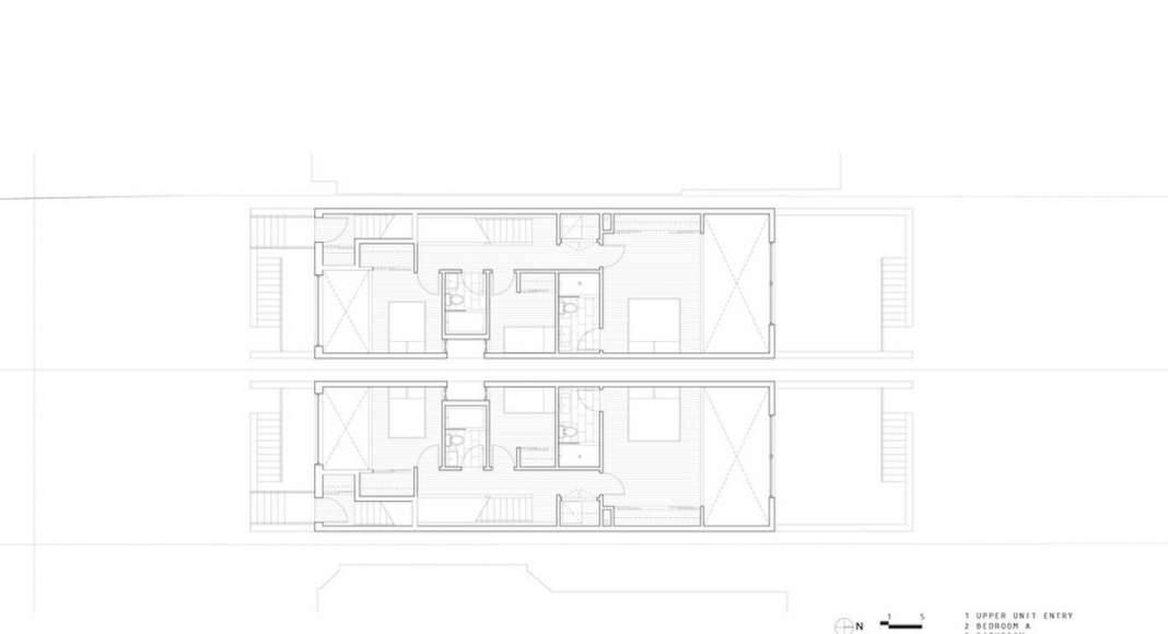Doble Duplex First Floor Plan : Drawing credit © Batay-Csorba Architects
