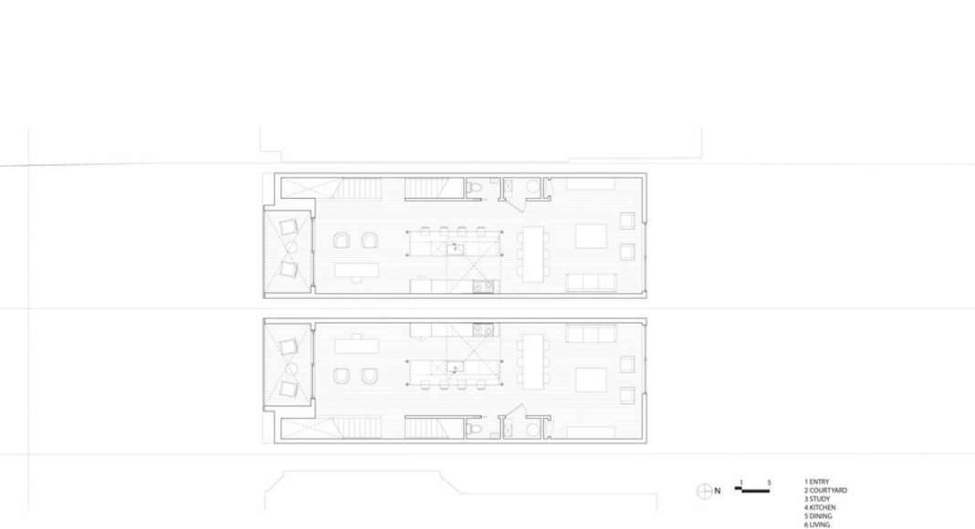 Doble Duplex Second Floor Plan : Drawing credit © Batay-Csorba Architects