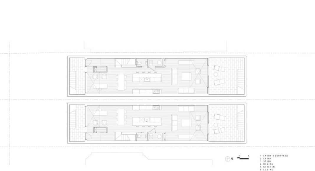 Doble Duplex Basement Floor Plan : Drawing credit © Batay-Csorba Architects