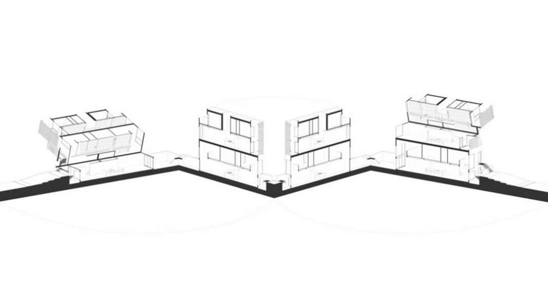 Doble Duplex Axonometric : Drawing credit © Batay-Csorba Architects
