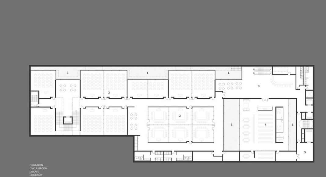 Lima Art Museum New Contemporary Art Wing Education Level Floor Plan : Photo credit © Efficiency Lab for Architecture PLLC