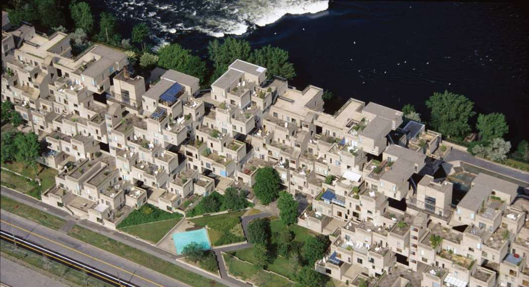 Habitat '67 - Aerial View Closeup : Photo credit image by © Studio Graetz