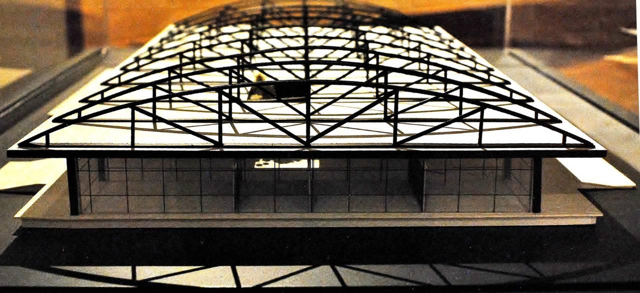 Maqueta del Edificio de la Cafetería : Fotografía cortesía del © INBA