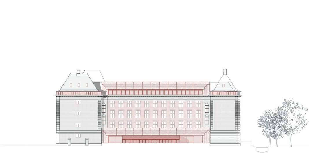 KAAN Architecten presenta B30 Fachada Noreste : Drawing © KAAN Architecten