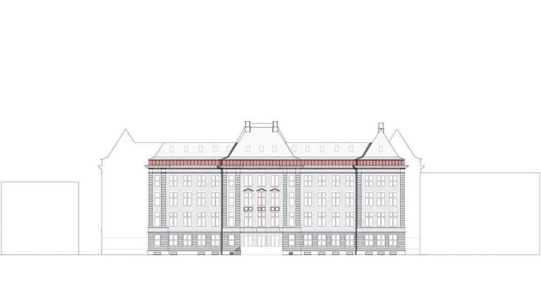 KAAN Architecten presenta B30 Fachada Noroeste : Drawing © KAAN Architecten