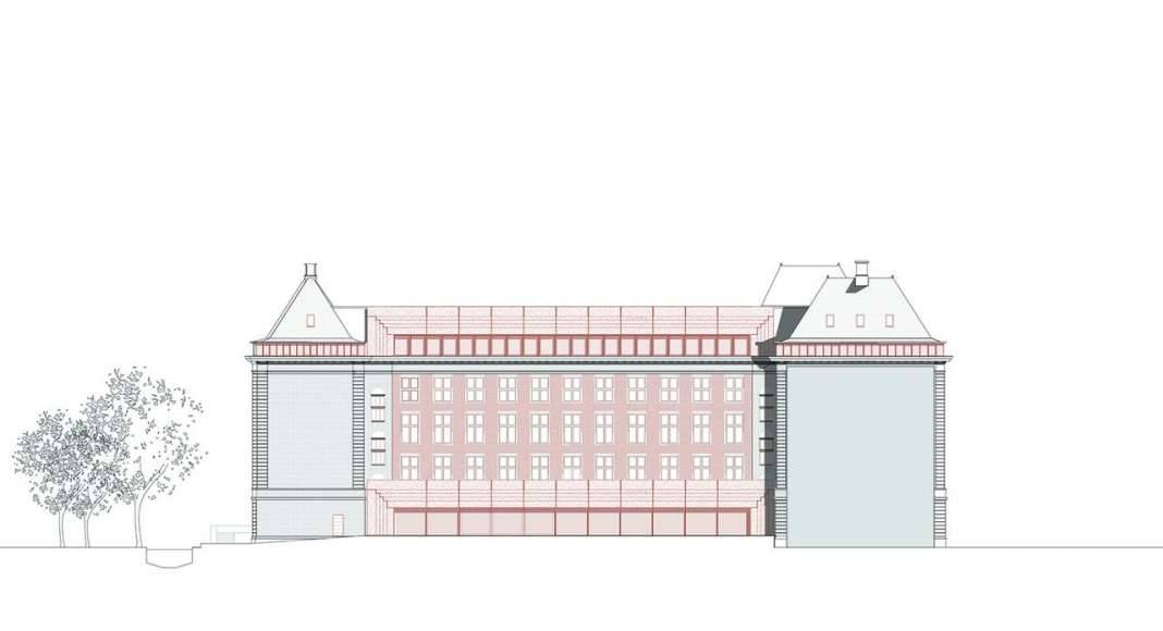 KAAN Architecten presenta B30 Fachada Suroeste : Drawing © KAAN Architecten