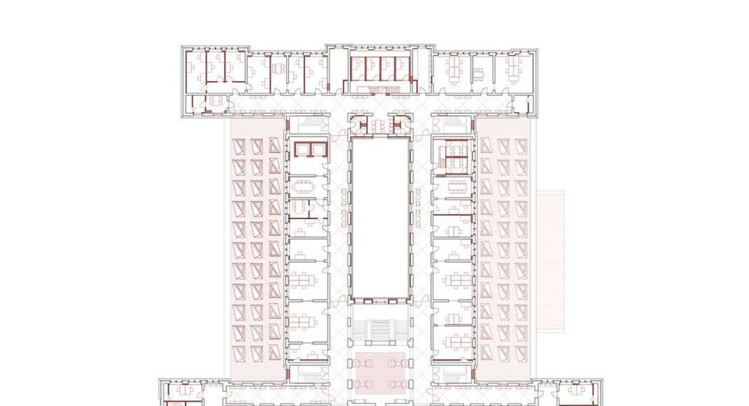 KAAN Architecten presenta B30 Planta Primer Nivel : Drawing © KAAN Architecten