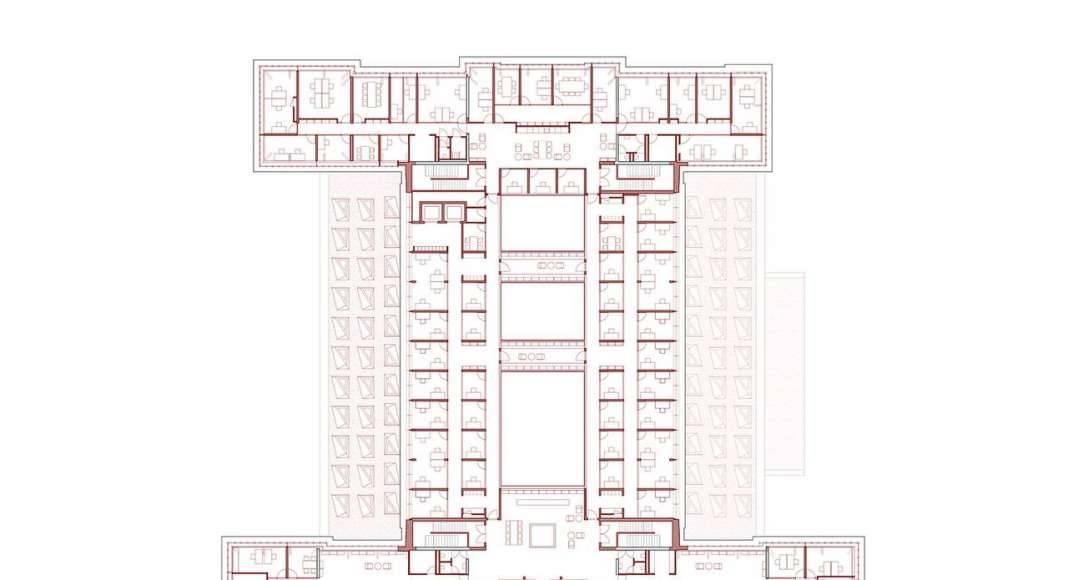 KAAN Architecten presenta B30 Planta Cuarto Nivel : Drawing © KAAN Architecten
