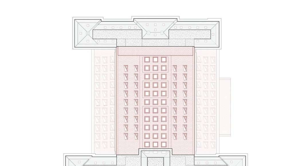 KAAN Architecten presenta B30 Planta de Azotea : Drawing © KAAN Architecten