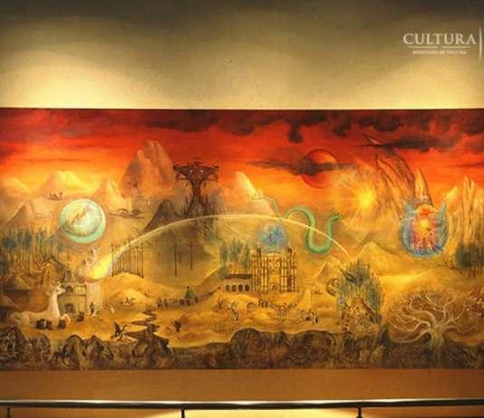 Mural El mundo mágico de los Mayas , de Leonora Carrington, sala maya etnografía 2do piso : Foto © INAH