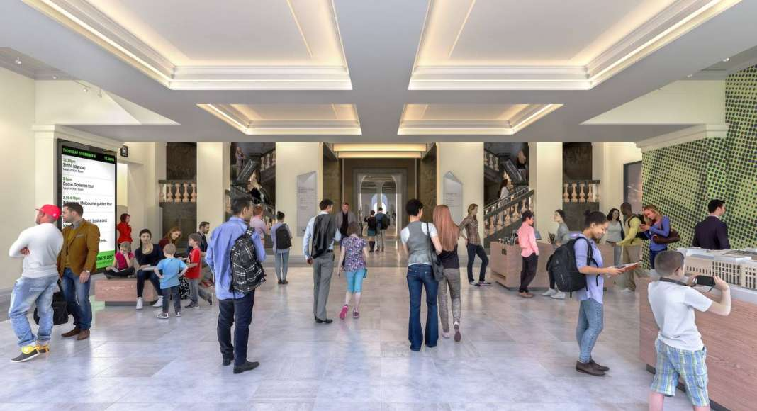 State Library Victoria Foyer Entry Vision 2020 : Render © Schmidt Hammer Lassen Architects