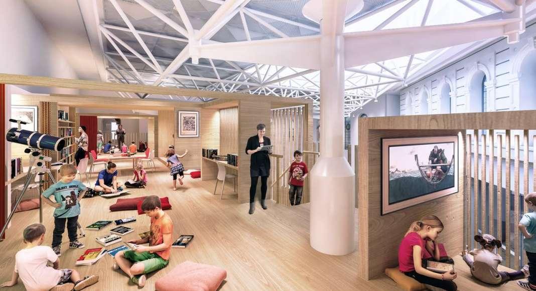 State Library Victoria Kids Quarter Loft Vision 2020 : Render © Schmidt Hammer Lassen Architects