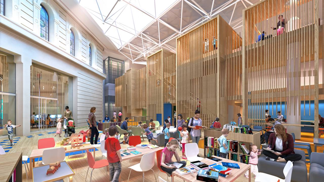 State Library Victoria Kids Quarter Vision 2020 : Render © Schmidt Hammer Lassen Architects