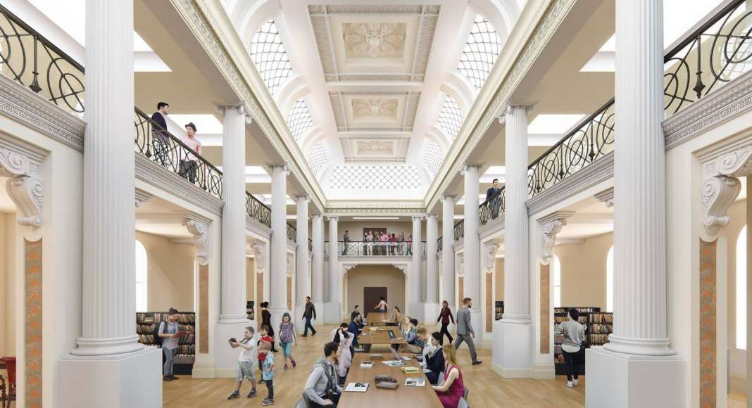 State Library Victoria Queens Hall Day Vision 2020 : Render © Schmidt Hammer Lassen Architects
