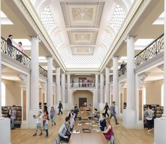 State Library Victoria Queens Hall Day Vision 2020 : Render © Schmidt Hammer Lassen Architects