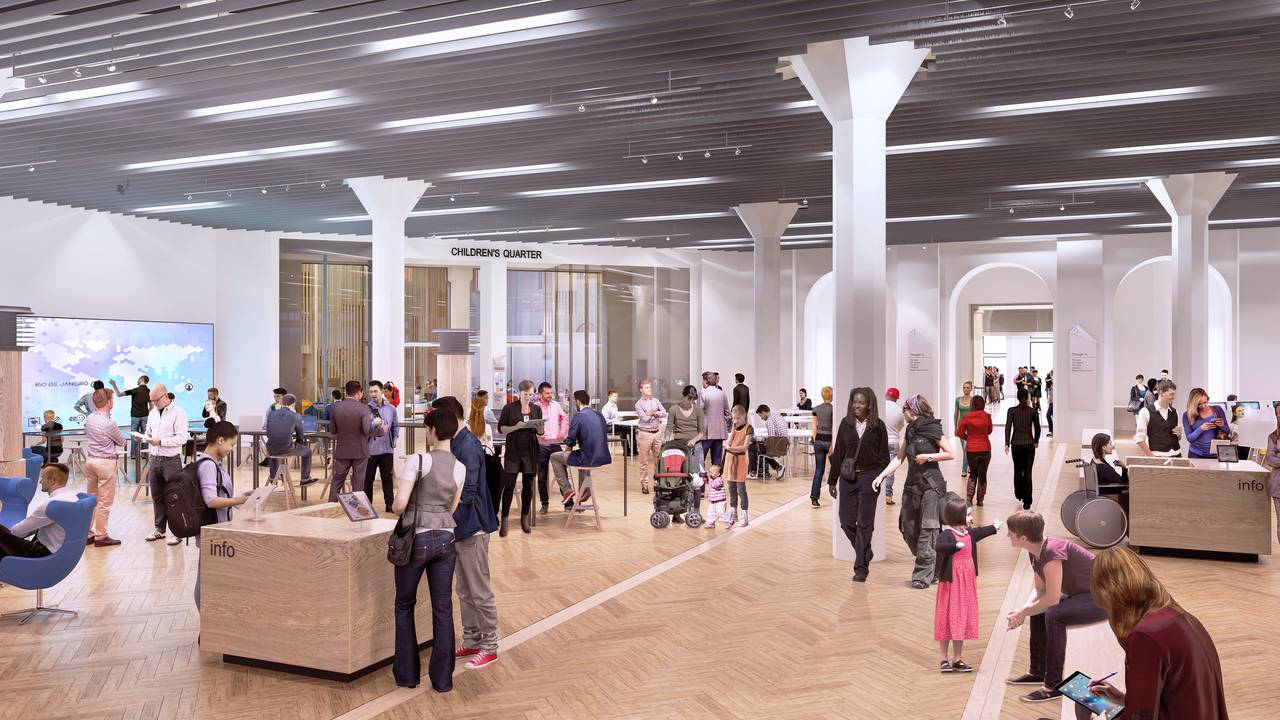 State Library Victoria TIC Vision 2020 : Render © Schmidt Hammer Lassen Architects