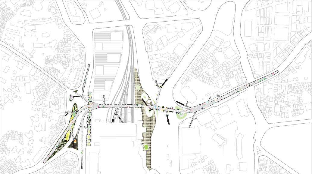 Seoullo 7017 Skygarden Section Map - Below to the structure : Image ©MVRDV