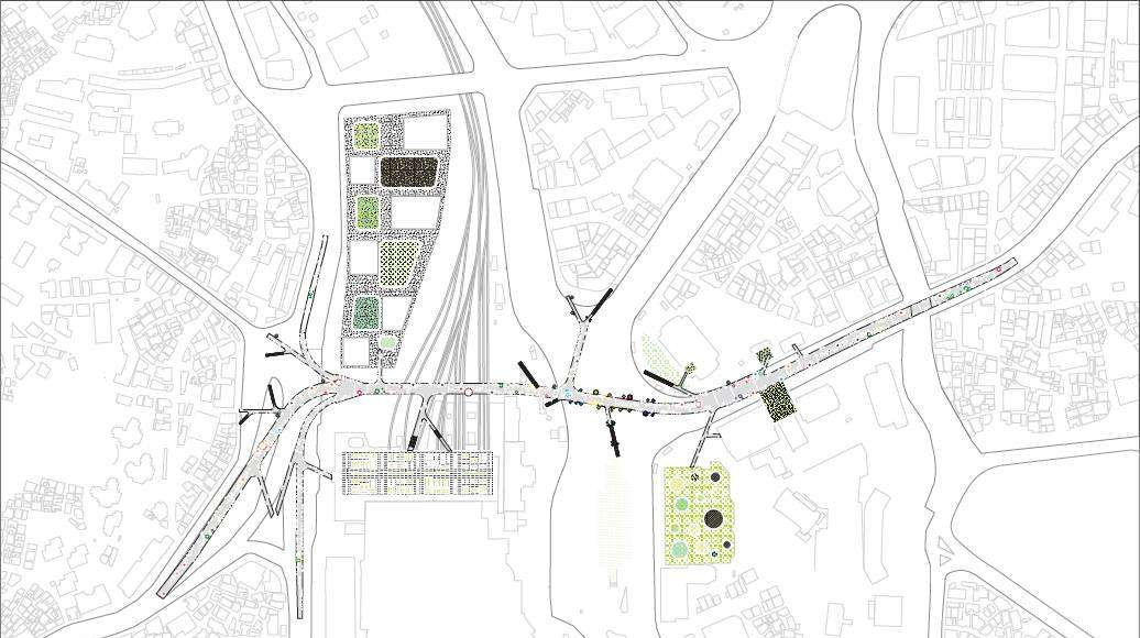 Seoullo 7017 Skygarden Section Map - Next to the structure : Image ©MVRDV