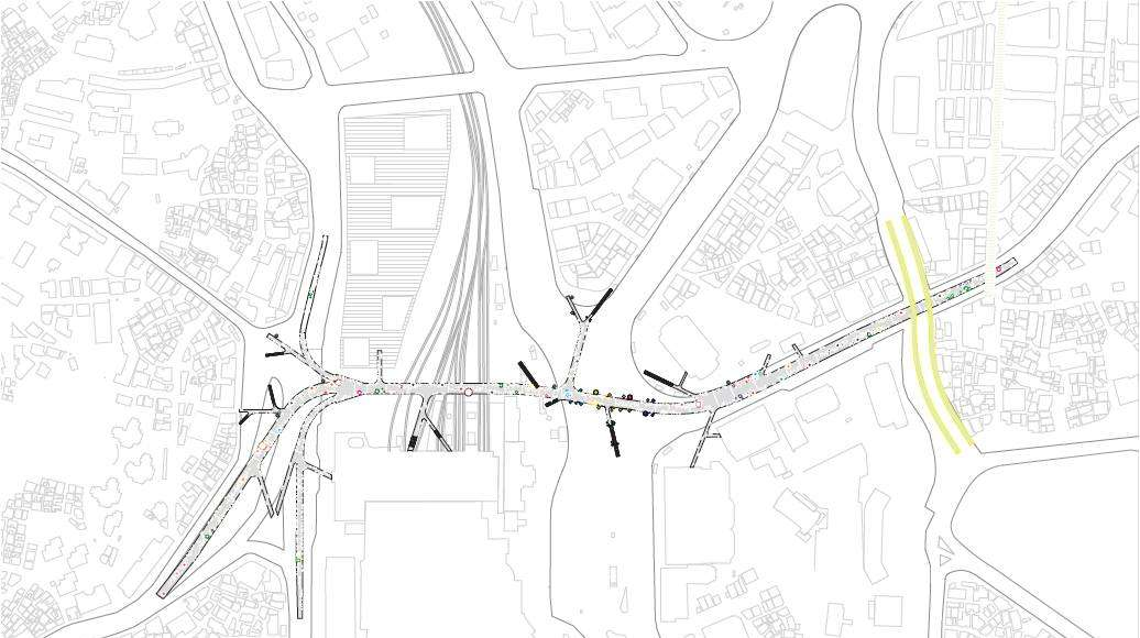 Seoullo 7017 Skygarden Section Map - Over to the structure : Image ©MVRDV