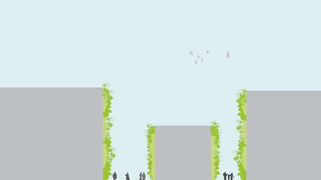 Seoullo 7017 Skygarden Section Garden - Green Facade : Image © MVRDV