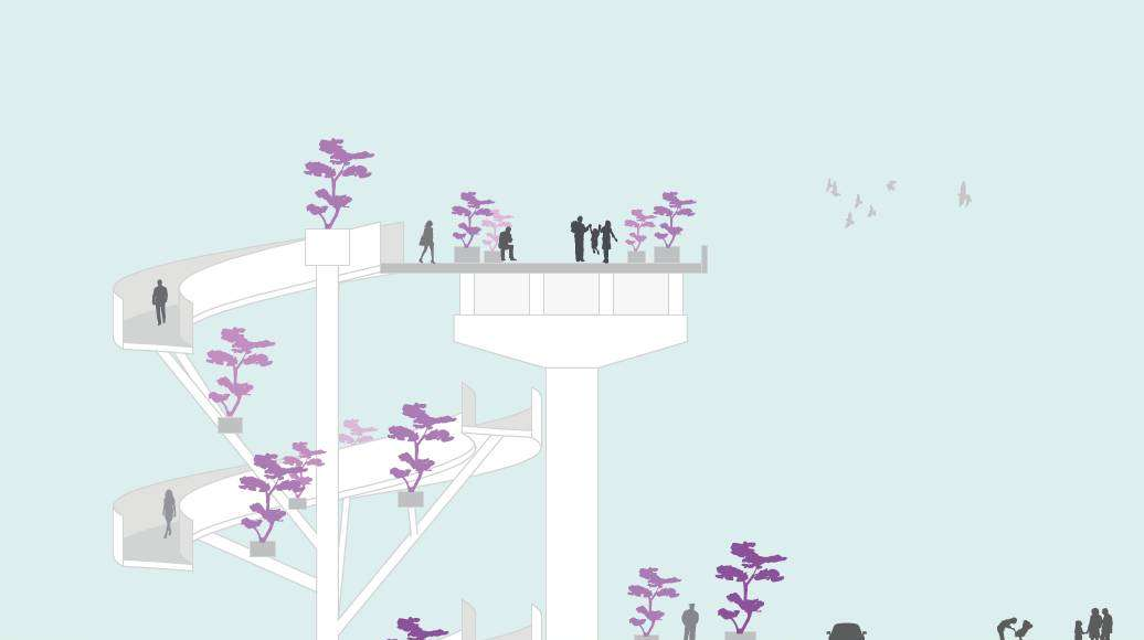Seoullo 7017 Skygarden Section Main - Spiral Stairs : Image © MVRDV