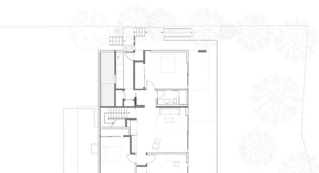 Skyline House Lower Floor Plan by Terry & Terry Architecture : Photo © TTA