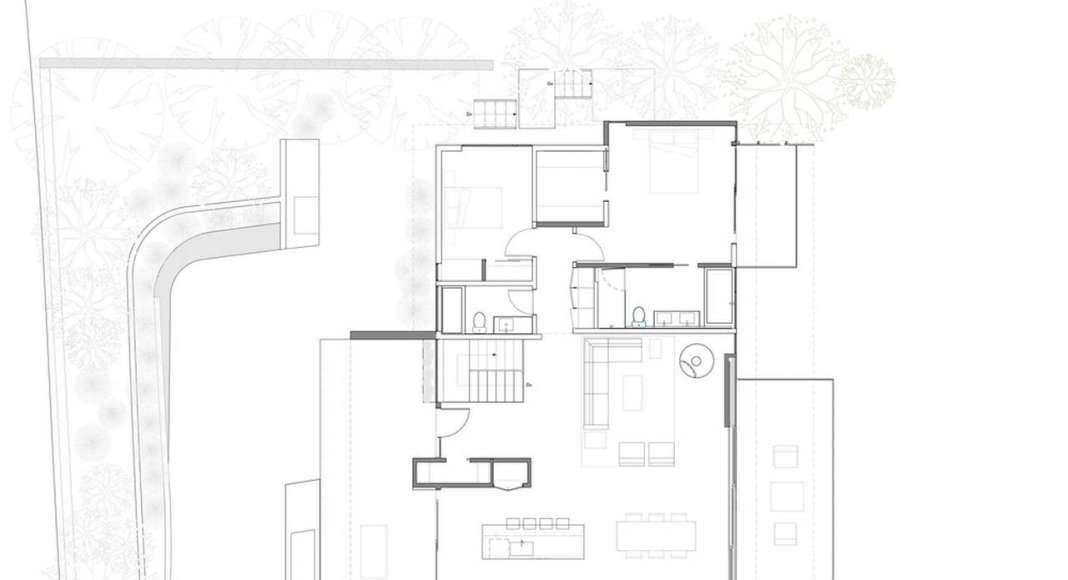 Skyline House Main Floor Plan by Terry & Terry Architecture : Photo © TTA