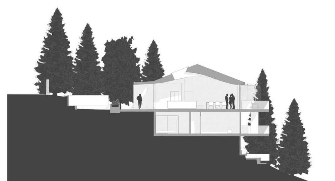Skyline House Site Section by Terry & Terry Architecture : Photo © TTA