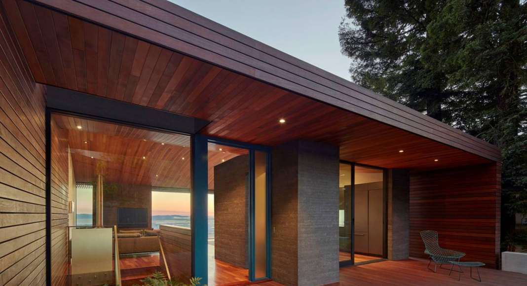 Skyline House Front Elevation by Terry & Terry Architecture : Photo © Bruce Damonte Photography
