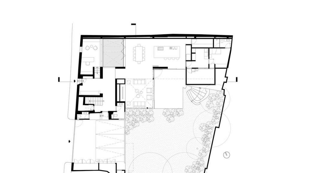 Planta Baja de la Casa F12 : Plano © Miguel de la Torre Arquitectos