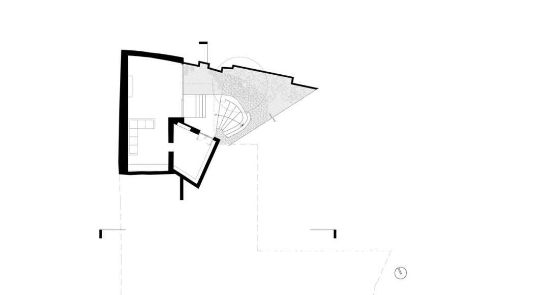 Planta del Sótano de la Casa F12 : Plano © Miguel de la Torre Arquitectos