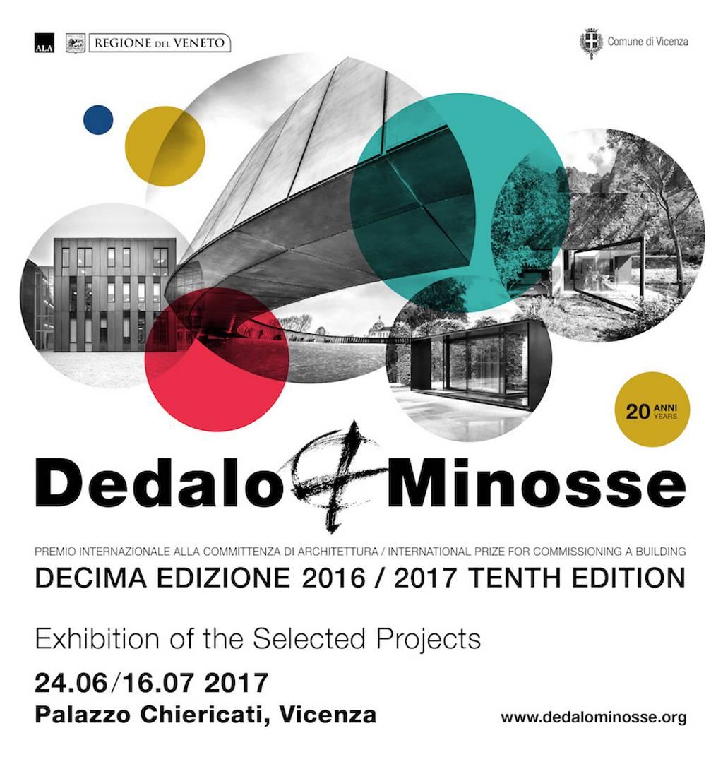 Exposición de Arquitectura del Premio Internacional Dedalo Minosse 2017 : Poster © ALA - Assoarchitetti