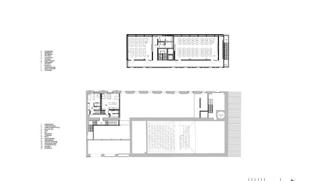 Planta Primer Nivel de la Renovación del Studio Molière y extensión del Liceo Francés de Viena : Photo © Dietmar Feichtinger Architectes