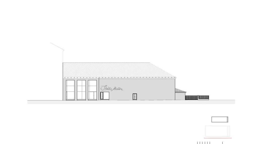 Fachada Este del Studio Molière y extensión del Liceo Francés de Viena : Photo © Dietmar Feichtinger Architectes