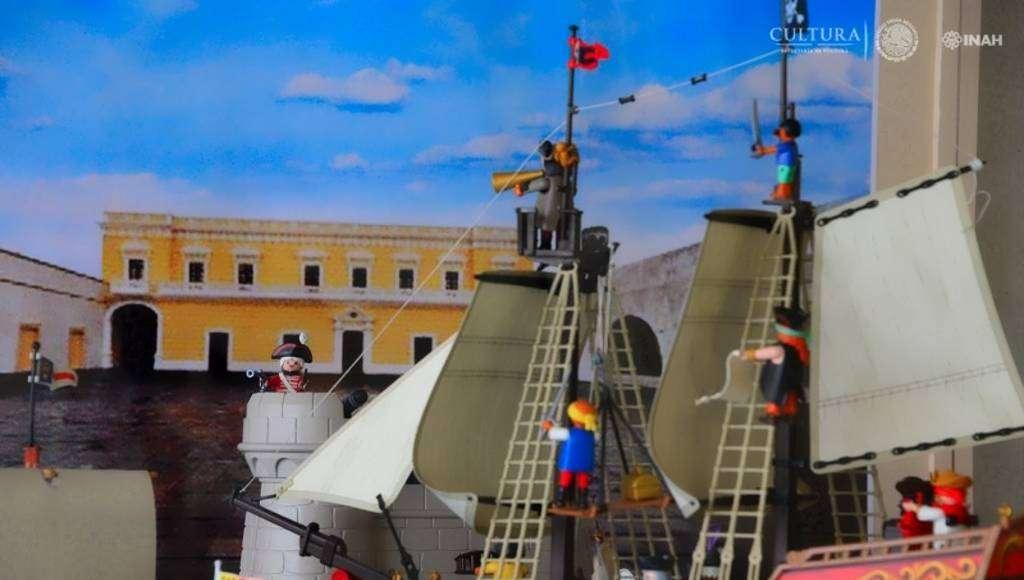 Recrean pasajes de la historia de México con juguetes armables : Foto © Héctor Montaño INAH
