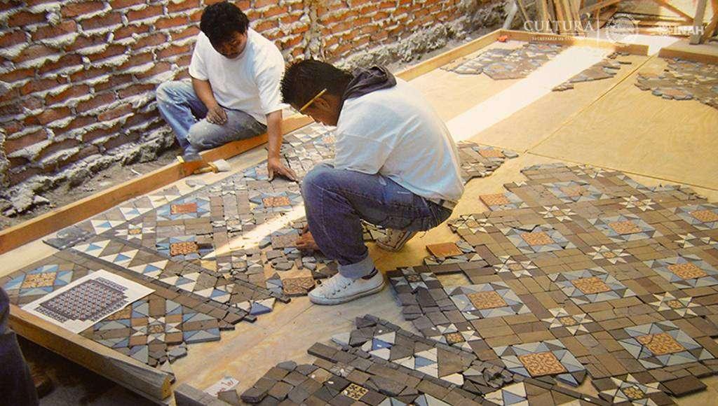 Trabajos de restauración : Foto © Proyecto de restauración de la Casa Rivas Mercado