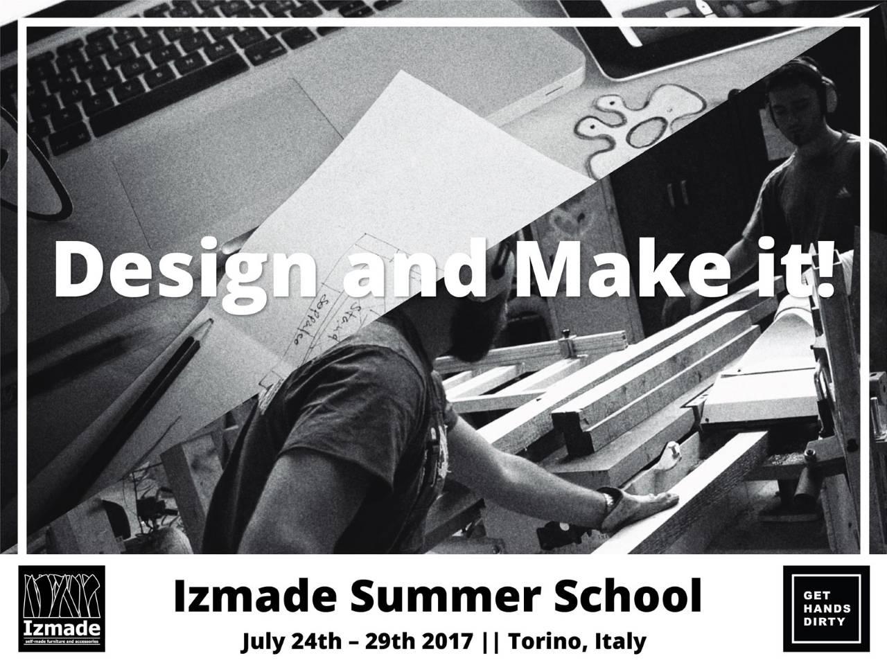 Izmade Curso de Verano 1027: Design and make it!, Turín, Italia : Poster © Izmade