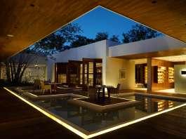 Vista del Spa de Noche del Hotel Chablé Resort & Spa en Chocholá, Yucatán : Fotografía © Paulina Morán