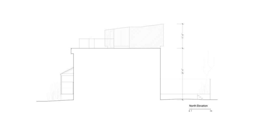 Fachada Norte Twelve Tacoma diseñado por Aleph-Bau en Toronto : Drawing © Aleph-Bau