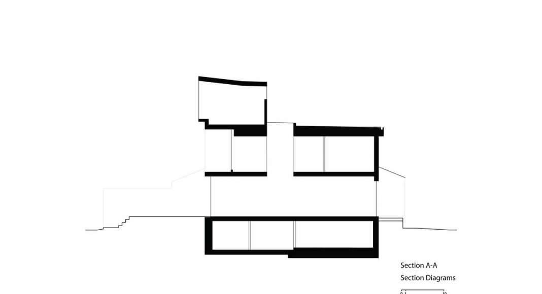 Corte Uno Twelve Tacoma diseñado por Aleph-Bau en Toronto : Drawing © Aleph-Bau
