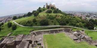Zona arqueológica de Cholula : Foto © Taller de Drones y Fotogrametría DEA-INAH