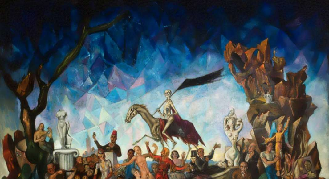 Así es la vida (1942), Roberto Montenegro, Óleo sobre tela 99.5 x 153 cm : © Colección López Velarde