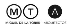Logo © Miguel de la Torre Arquitectos