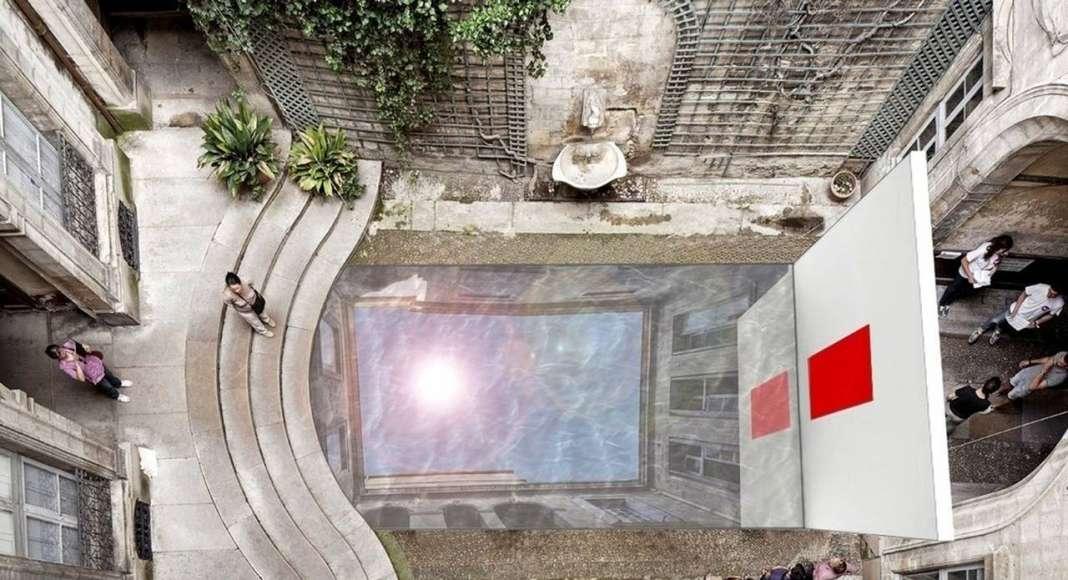 Tomber dans le ciel : Photo credit © Ecole Technique Supérieure de l'Université du Pays Basque à San Sebastian