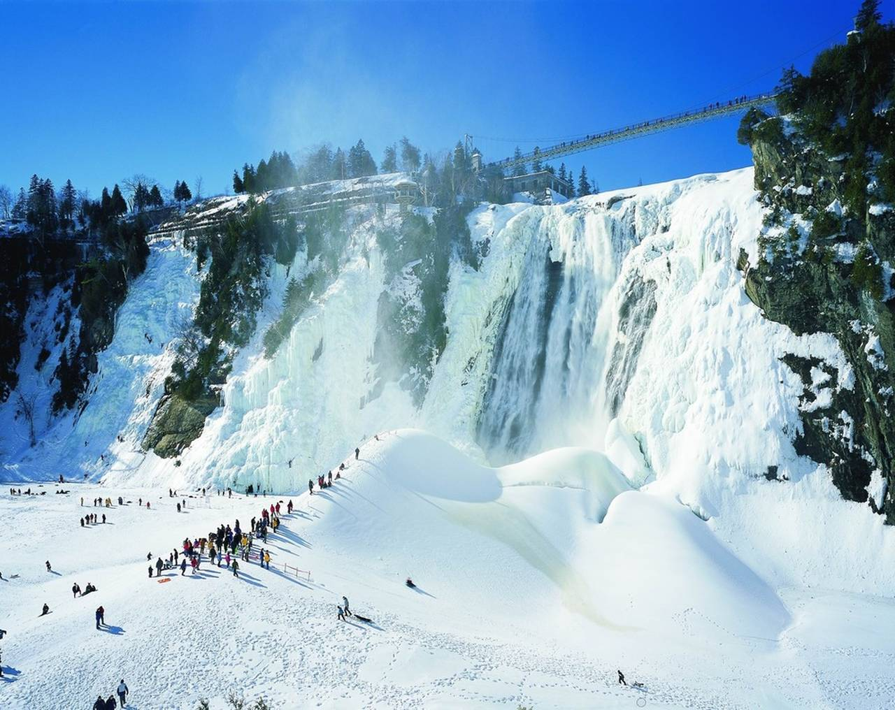 Parc de la Chute-Montmorency : Photo credit © Marc-André Boutin © Sepaq
