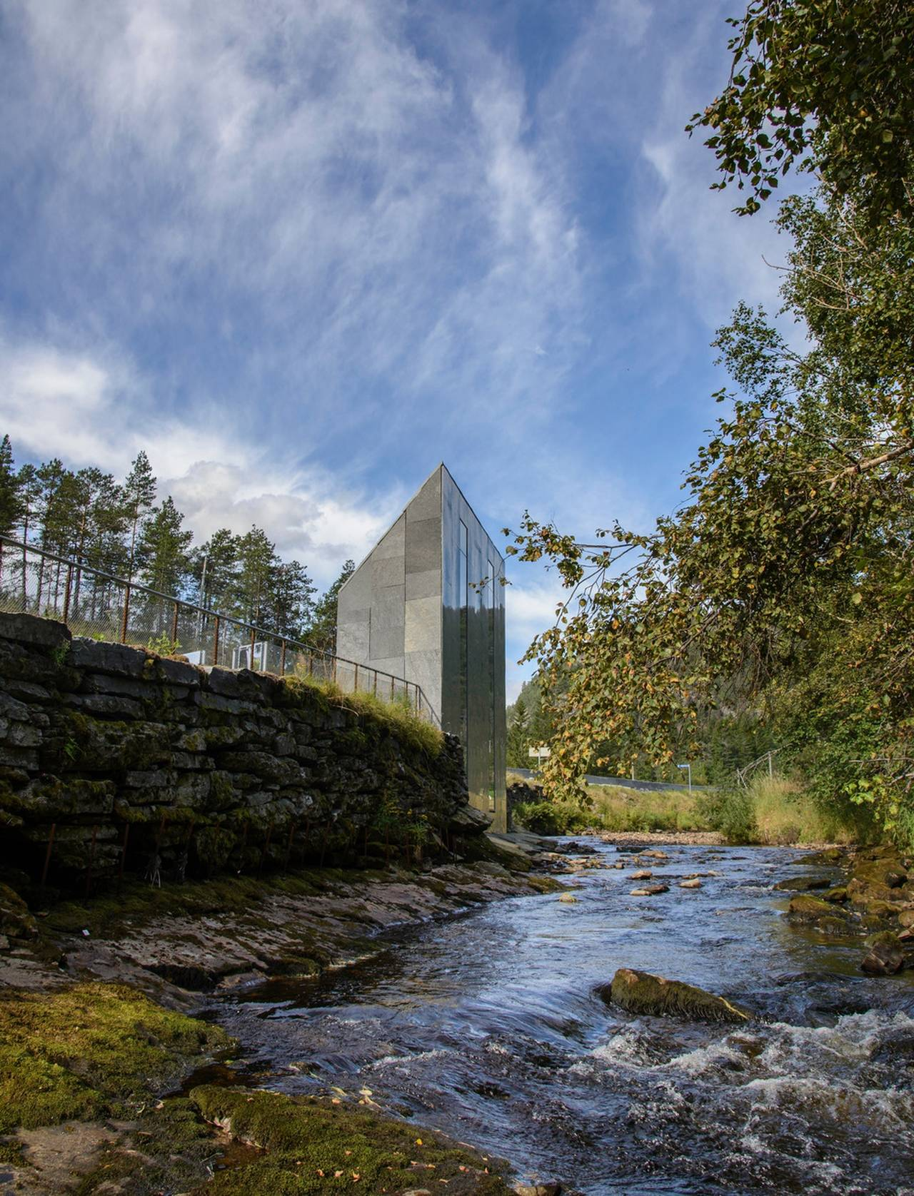 Carved out of the rock and relocated to the other side of the riverbank : Photo credit © Steinar Skaar