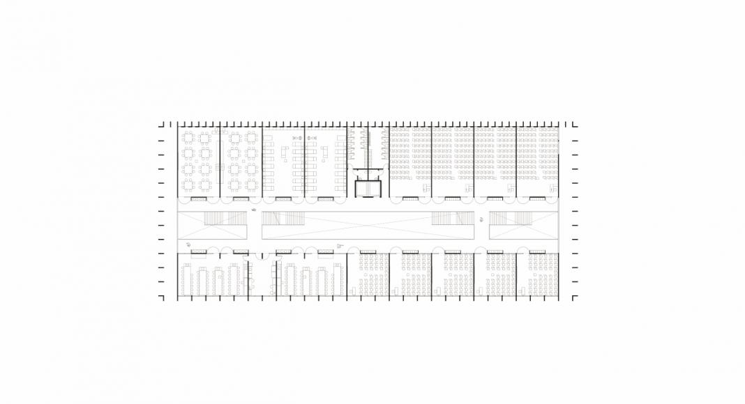 Planta Primer Nivel de la Facultad de Medicina de São José dos Campos : Drawing © Kaan Architecten