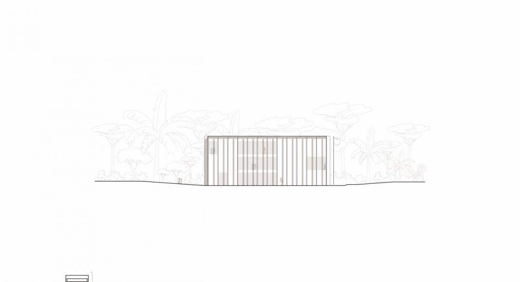 Acceso Este hacia la Facultad de Medicina de São José dos Campos : Drawing © Kaan Architecten